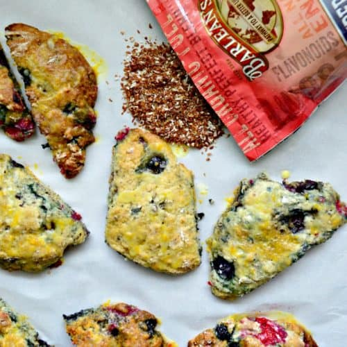 Berry Scones with Orange Glaze