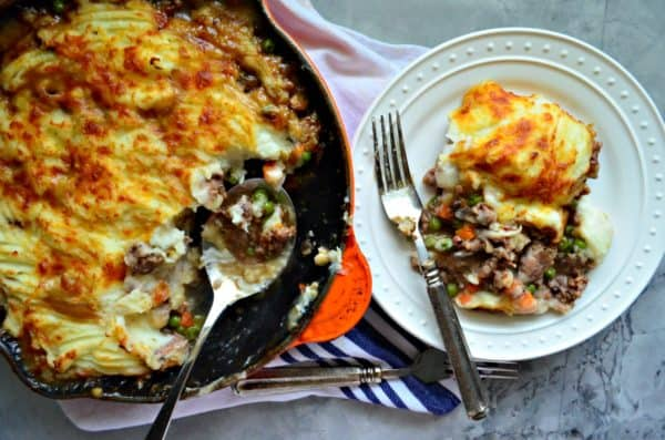 Skillet Turkey-Bacon Shepherds Pie