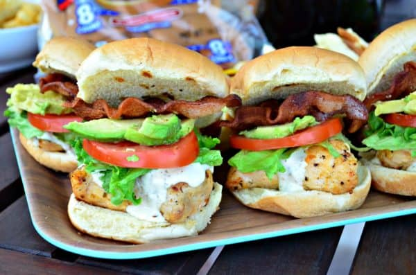 Grilled Chicken Cali Club Sandwiches