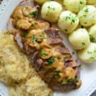 Polish Feast - Pork Roast with Potato Dumplings and Sauerkraut