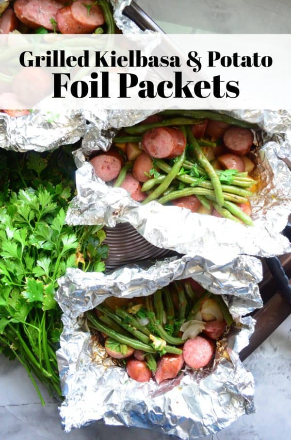 Grilled Kielbasa & Potato Foil Packets