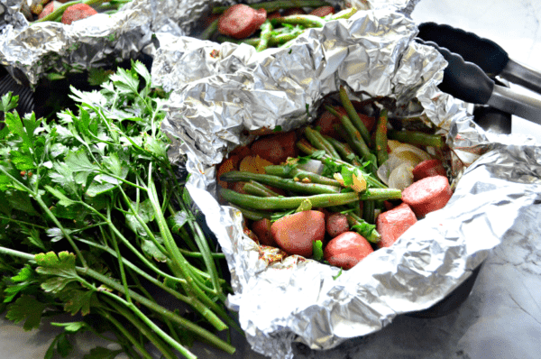 Grilled Kielbasa & Potato Foil Packets Recipe