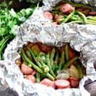 Grilled Kielbasa & Potato Foil Packets