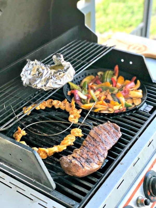 Grilled Skirt Steak And Shrimp Fajitas