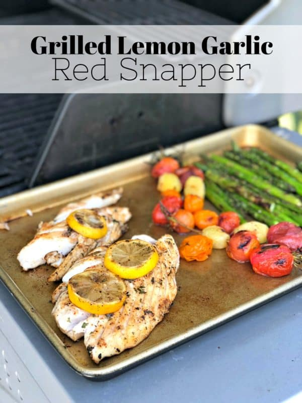 Grilled Lemon Garlic Red Snapper Recipe