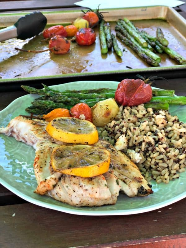 Grilled Lemon Garlic Red Snapper