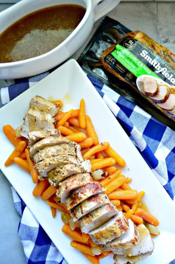 Instant Pot Garlic and Herb Pork Tenderloin with Carrots and Pearl Onions Recipe