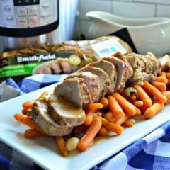 Instant Pot Smithfield Garlic and Herb FRESH Pork Tenderloin with Carrots and Pearl Onions