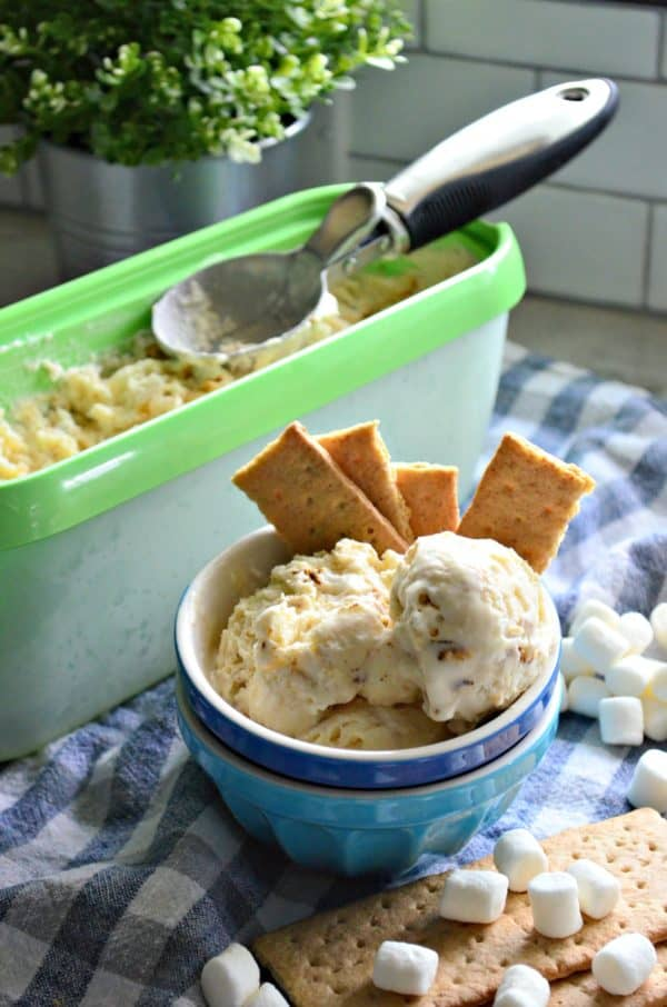 No-Churn 3-Ingredient Toasted Marshmallow Ice Cream