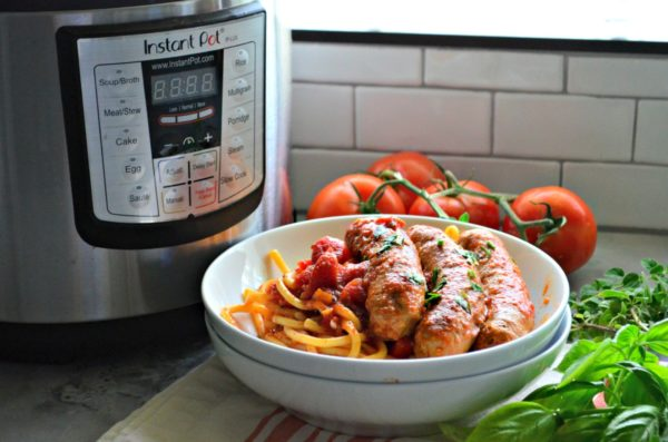 Instant Pot Italian Sausage and Bell Pepper Sauce