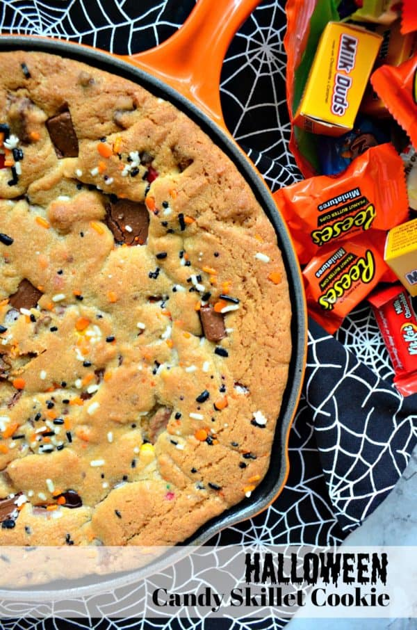 Halloween Candy Skillet Cookie