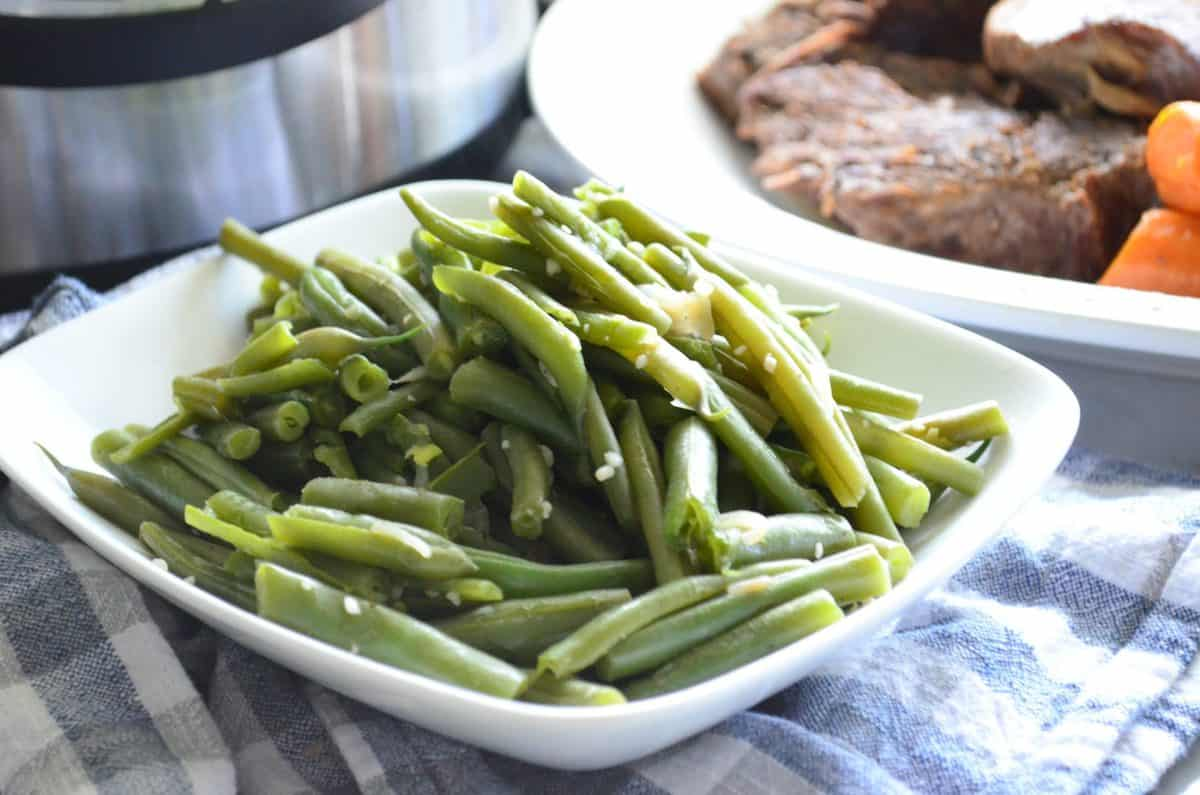 Instant Pot Garlic & Onion Green Beans