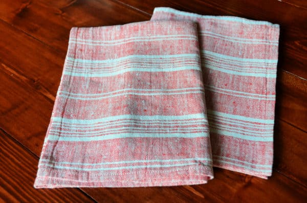LinenMe Multistripe Hand And Guest Towels, Red White