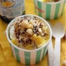 Piña Colada Frozen Yogurt Sundaes