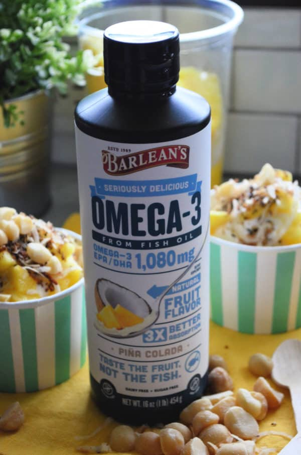 Seriously Delicious™ Omega-3 Fish Oil Piña Colada