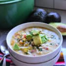 Green Enchilada Chicken Soup