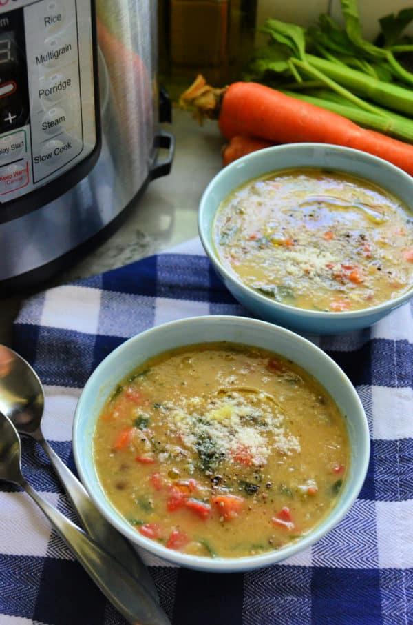Instant Pot Italian Vegetable Lentil Soup