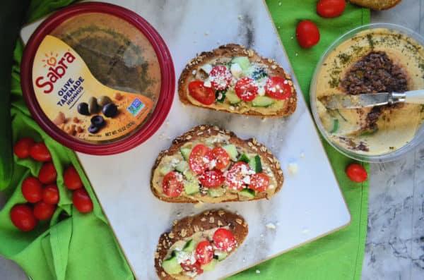 Mediterranean Hummus Toast