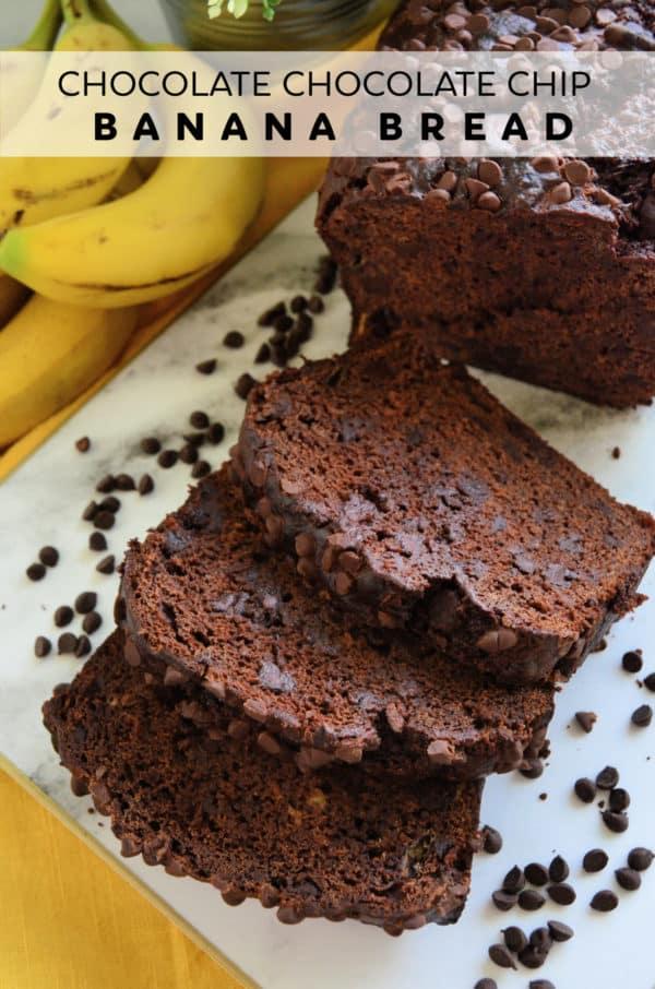 Chocolate Chocolate Chip Banana Bread
