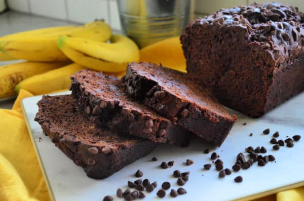 Chocolate Chocolate Chip Banana Bread Dessert Recipe