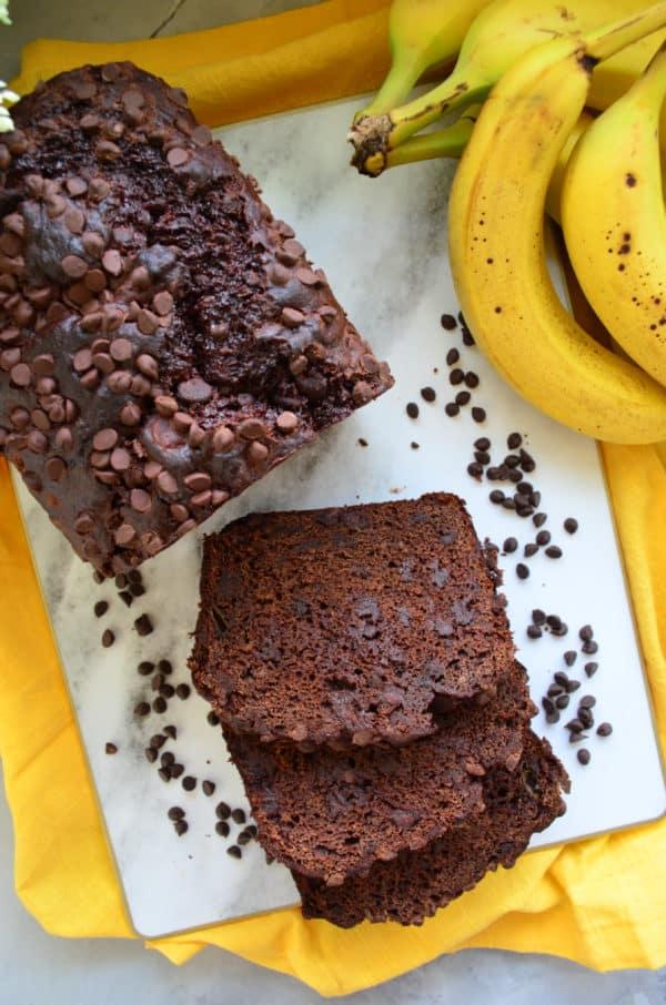 Chocolate Chocolate Chip Banana Bread Photo