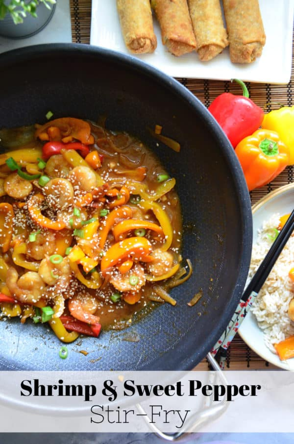Shrimp and Sweet Pepper Stir-Fry