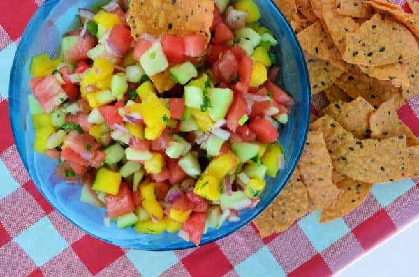 Watermelon Salsa Appetizer