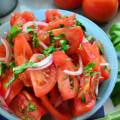 Balsamic Tomato & Onion Salad Marinated with Balsamic Vinaigrette