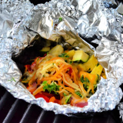 Grilled Mexican Chicken & Rice Foil Packets with Cheese