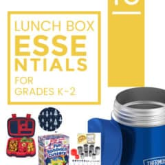 10 Lunch Box Essentials for Grades K-2
