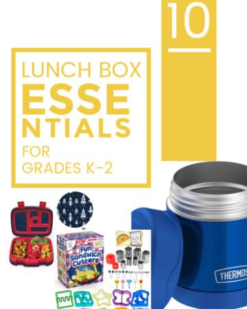 Title page of 10 Lunch Box Essentials for Grades K-2