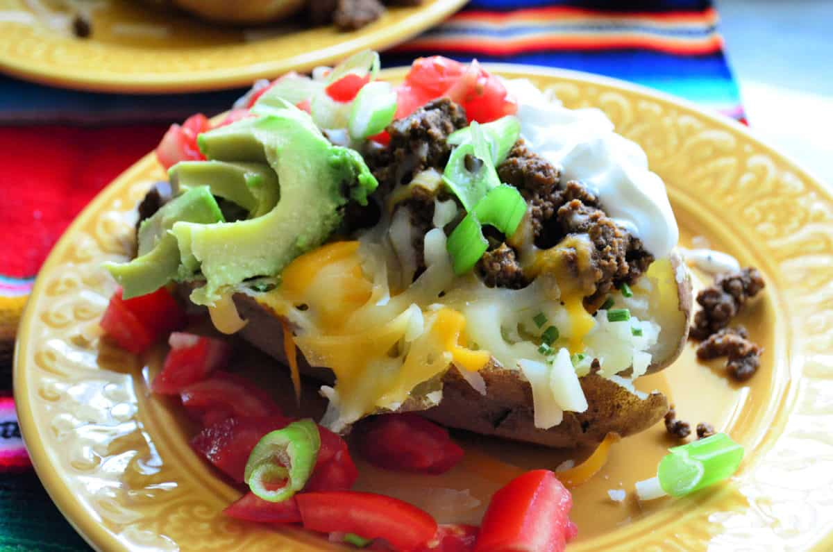Loaded Taco Baked Potatoes Dinner