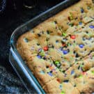 Halloween M&M Cookie Bars