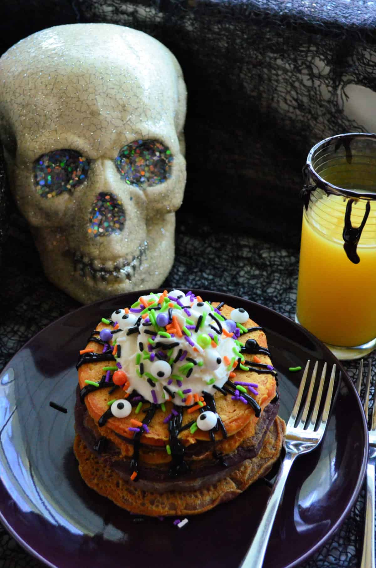 Halloween Monster Buttermilk Pancakes Recipe