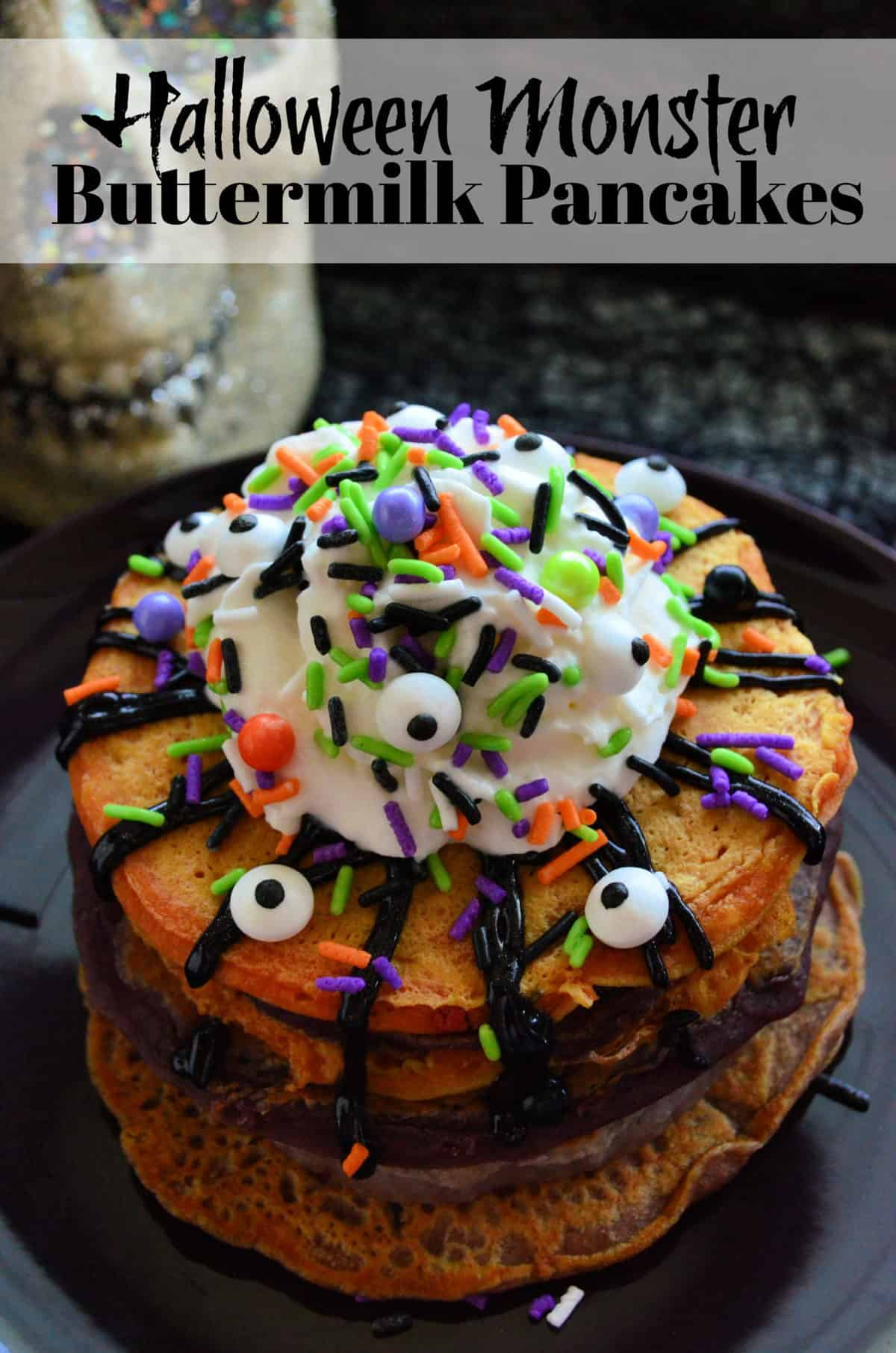 Halloween Monster Buttermilk Pancakes