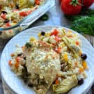 One Pan Greek Chicken and Rice