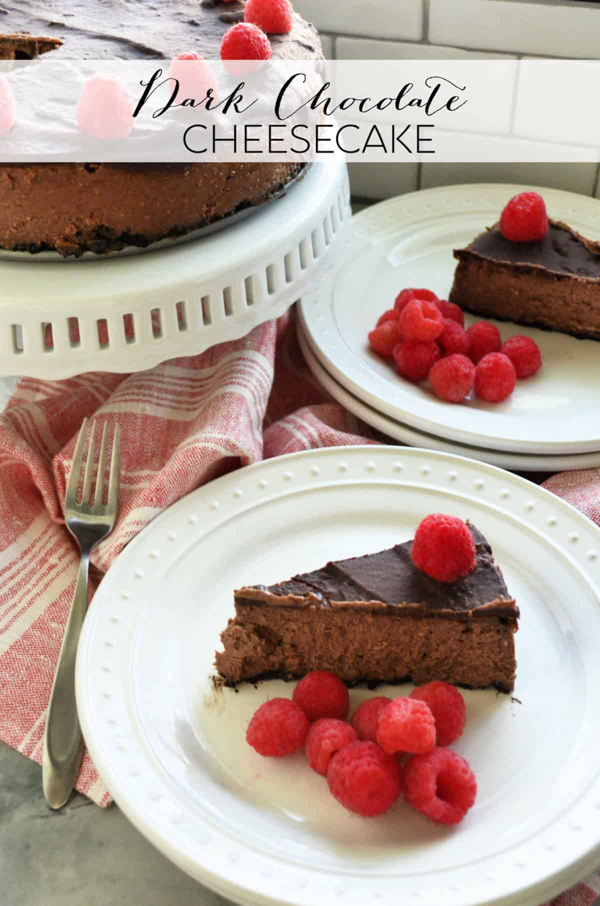 Dark Chocolate Cheesecake Katie S Cucina