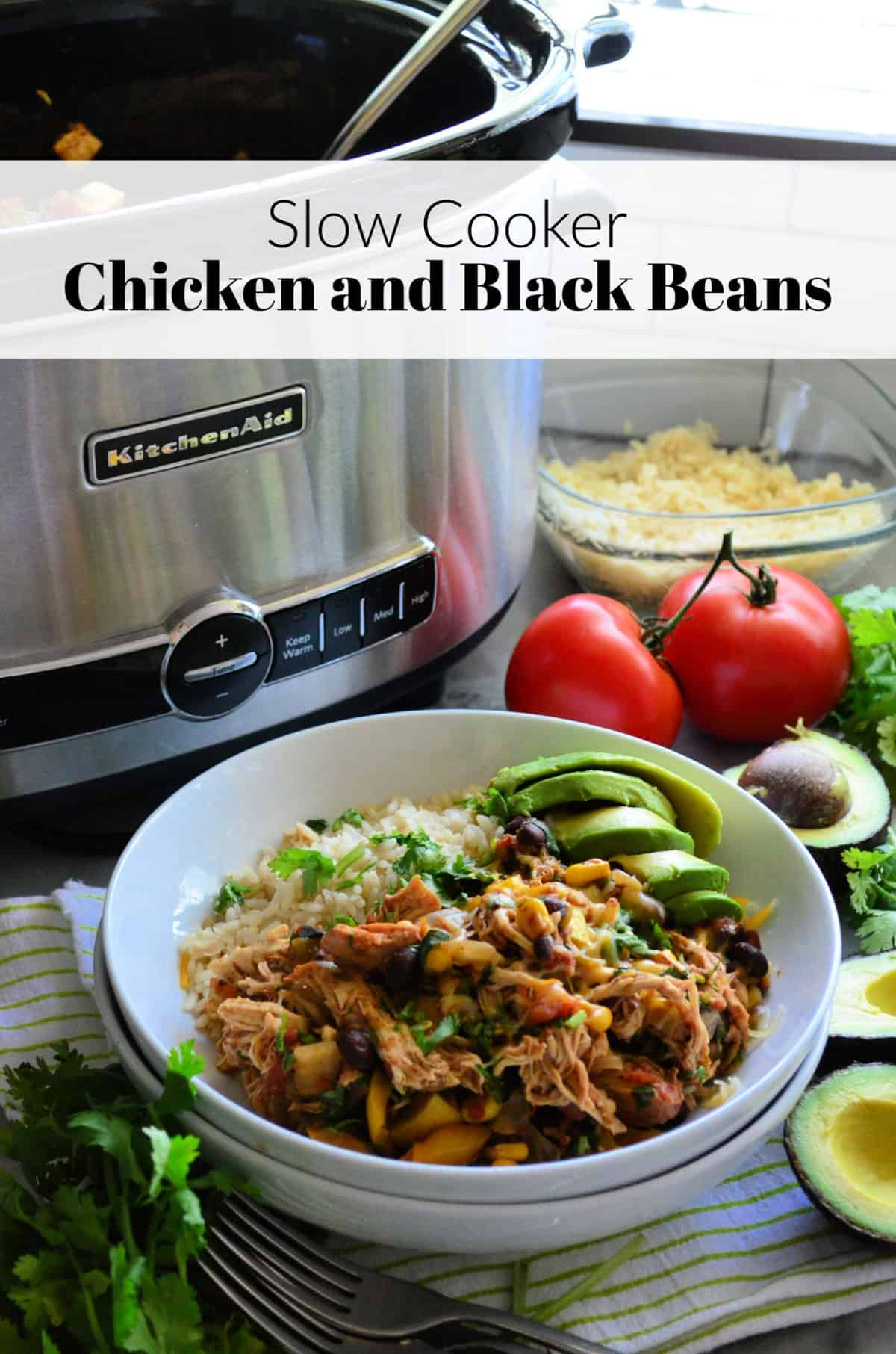 Chicken and Black Beans in the Slow Cooker