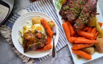 Instant Pot Red Wine & Olive Oil Pot Roast Meal