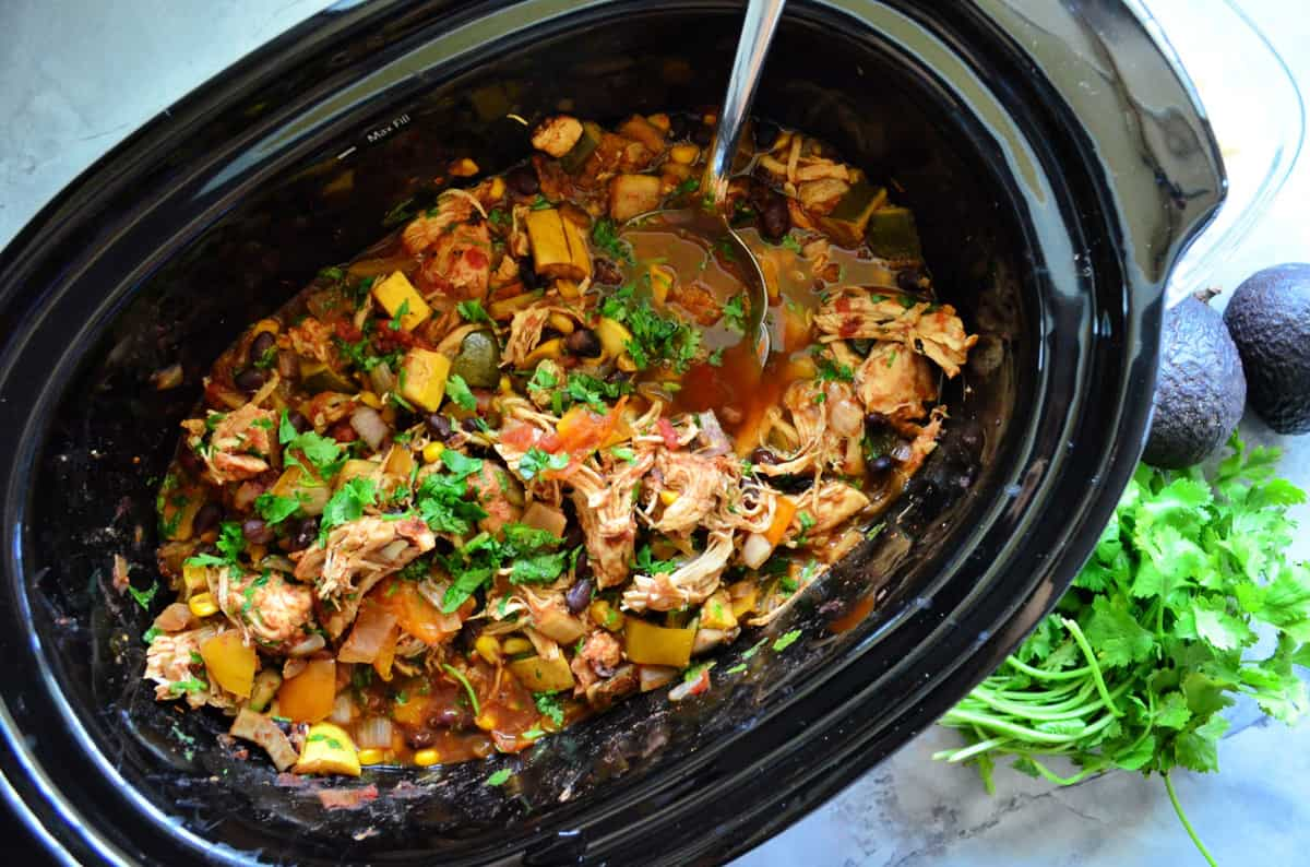 Chicken and Black Beans in the Crock Pot