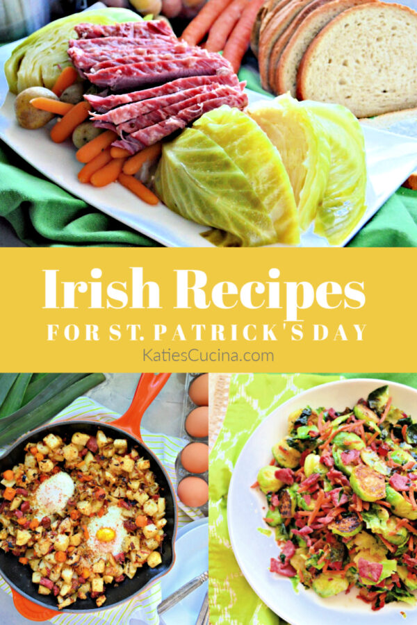 Collage of Irish recipe items with title text for pinterest.