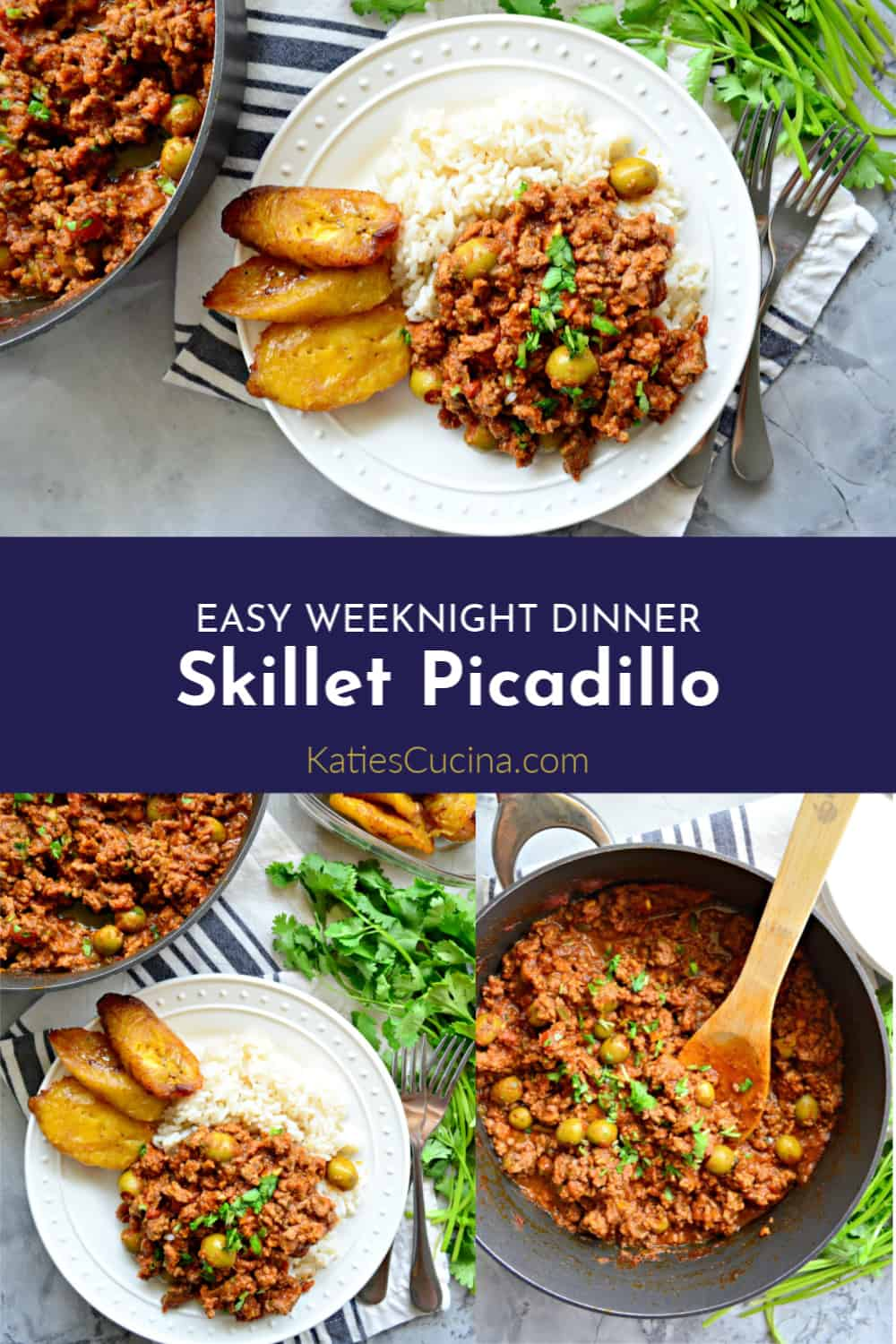 Skillet Picadillo collage with text