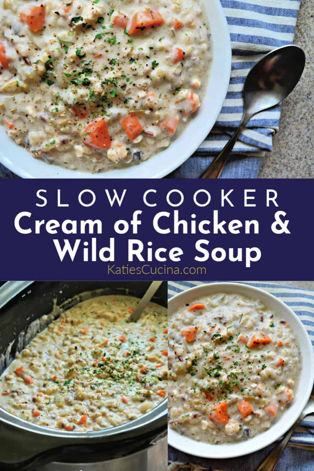Slow Cooker Cream of Chicken Soup Collage with Text
