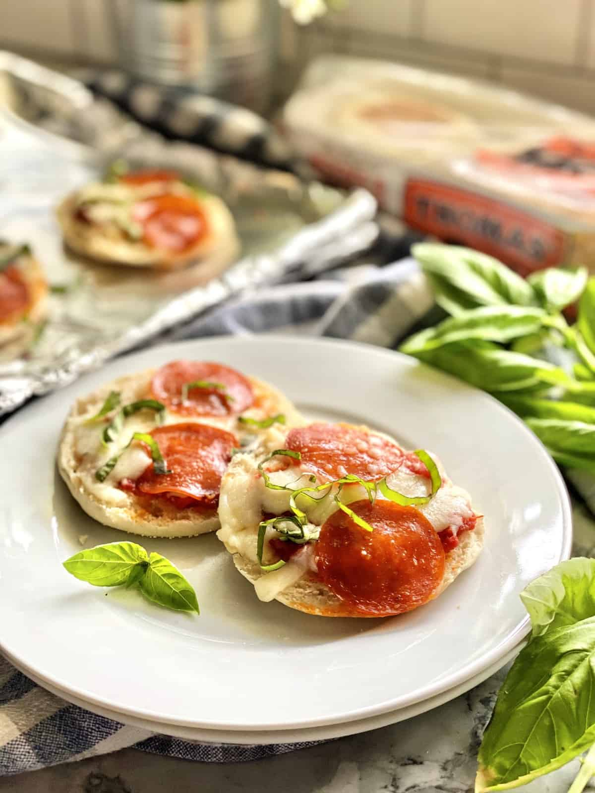 Toaster Oven English Muffin Pizzas Lunch or Snack