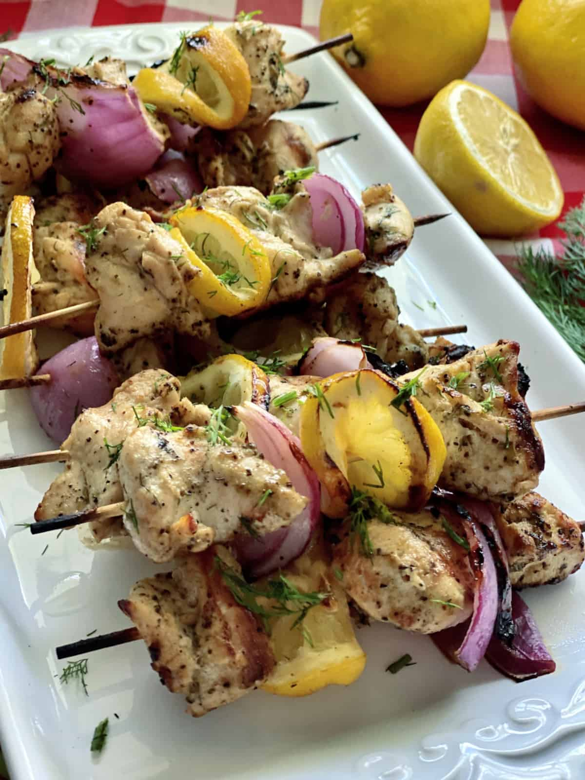 Greek Chicken Kabobs Katie S Cucina