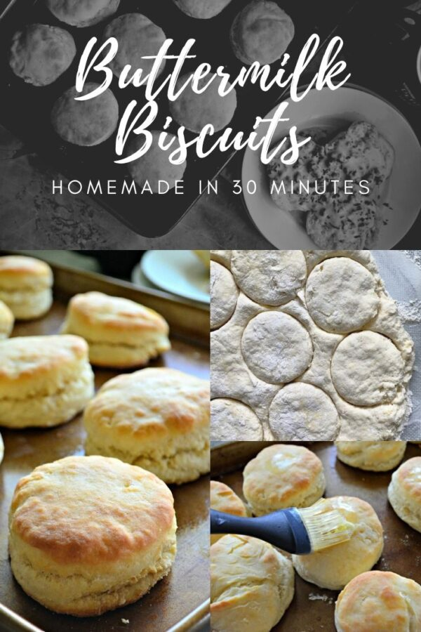 Multiple photos of biscuits with text on image.