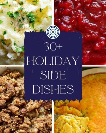 Four photos of side dishes with text on image for Pinterest.
